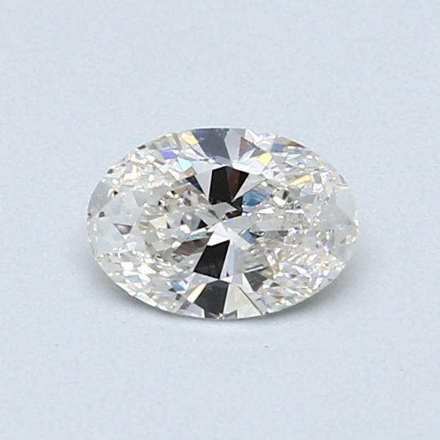 0.51 Carat H SI1 Oval Diamond