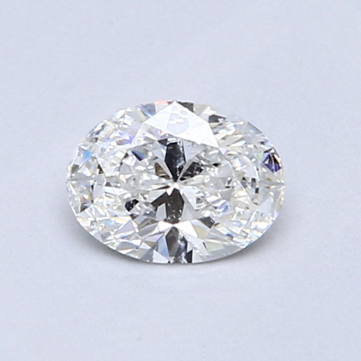 0.54 Carat F SI2 Oval Diamond