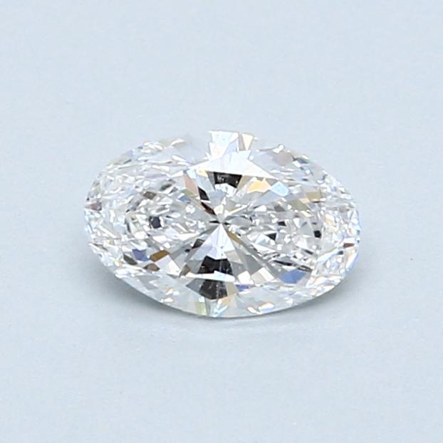 0.50 Carat D SI2 Oval Diamond