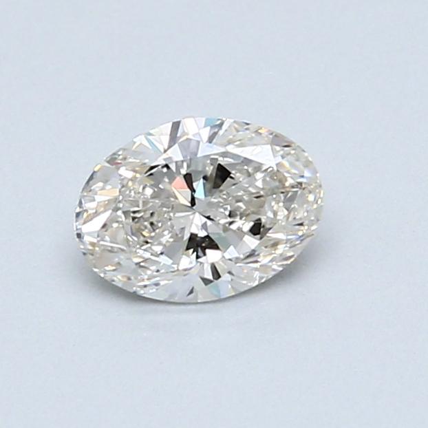 0.50 Carat H SI1 Oval Diamond