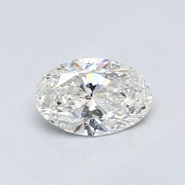 0.52 Carat H SI2 Oval Diamond