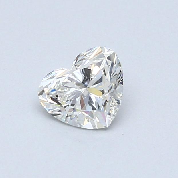 0.50 Carat H SI1 Heart Diamond