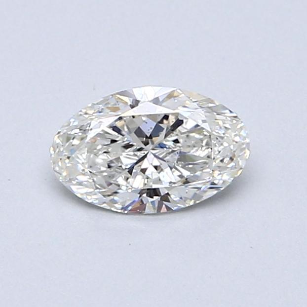 0.50 Carat G SI1 Oval Diamond